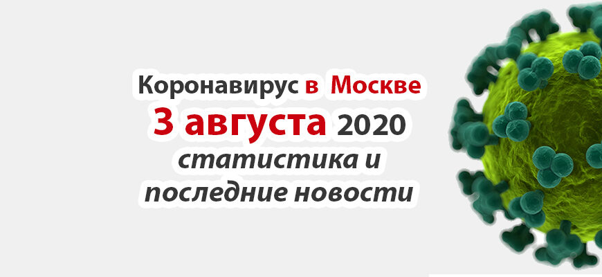 Коронавирус в Москве на 3 августа 2020 года