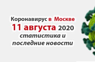 Коронавирус в Москве на 11 августа 2020 года