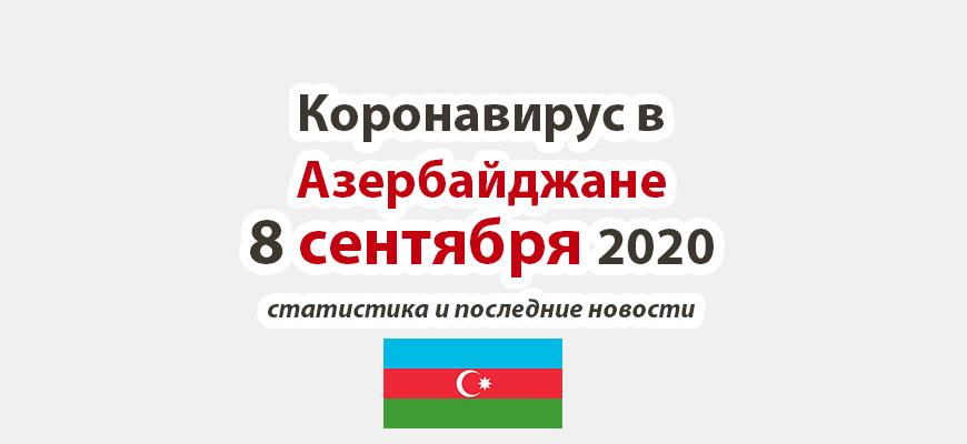 Коронавирус в Азербайджане на 8 сентября 2020 года