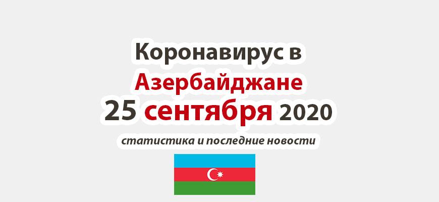 Коронавирус в Азербайджане на 25 сентября 2020 года