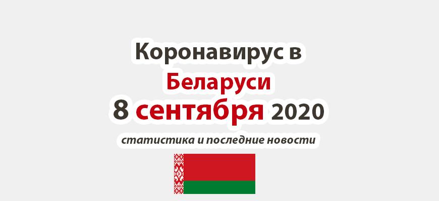 Коронавирус в Беларуси на 8 сентября 2020 года