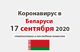 Коронавирус в Беларуси на 17 сентября 2020 года