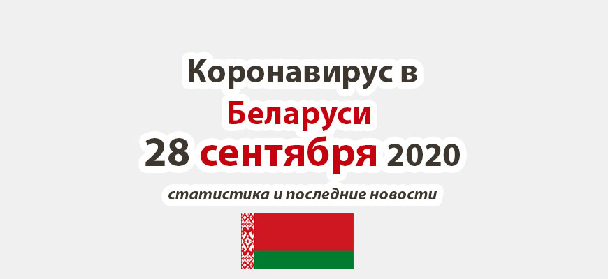 Коронавирус в Беларуси на 28 сентября 2020 года