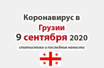Коронавирус в Грузии на 9 сентября 2020 года