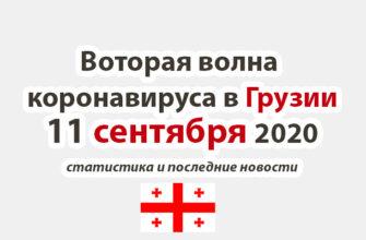 Коронавирус в Грузии на 11 сентября 2020 года