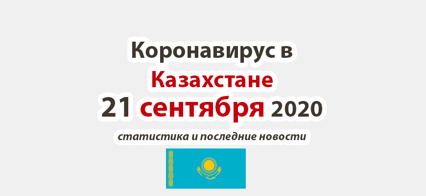 Коронавирус в Казахстане на 21 сентября 2020 года
