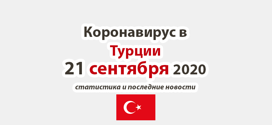 Коронавирус в Турции на 21 сентября 2020 года