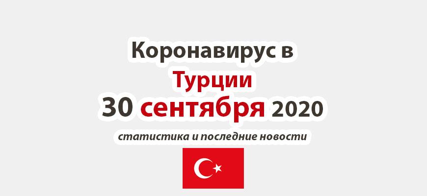 Коронавирус в Турции на 30 сентября 2020 года