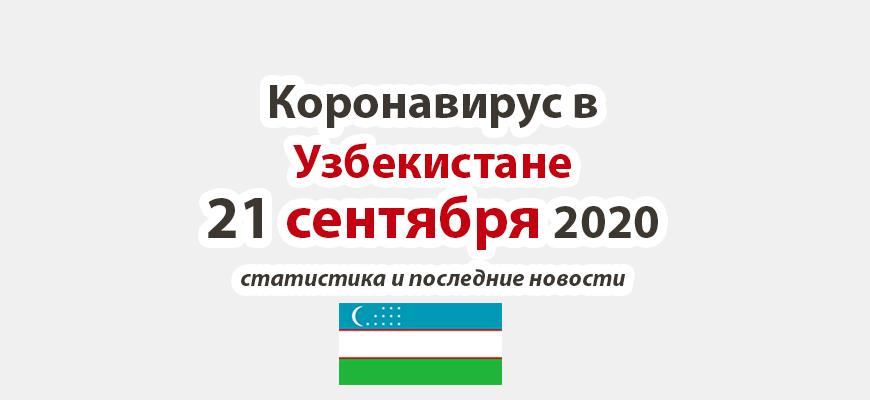 Коронавирус в Узбекистане на 21 сентября 2020 года