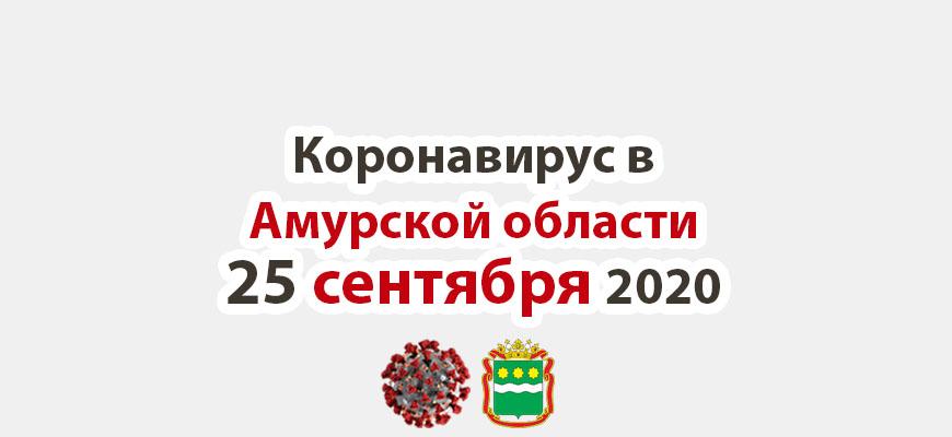 Коронавирус в Амурской области на 25 сентября 2020 года