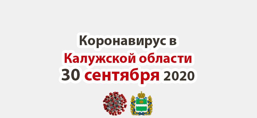 Коронавирус в Калужской области на 30 сентября 2020 года