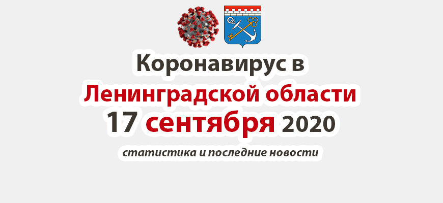 Коронавирус в Ленинградской области 17 сентября 2020
