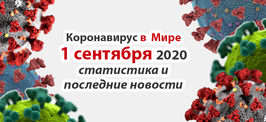 Коронавирус COVID-19 в мире статистика на 1 сентября 2020
