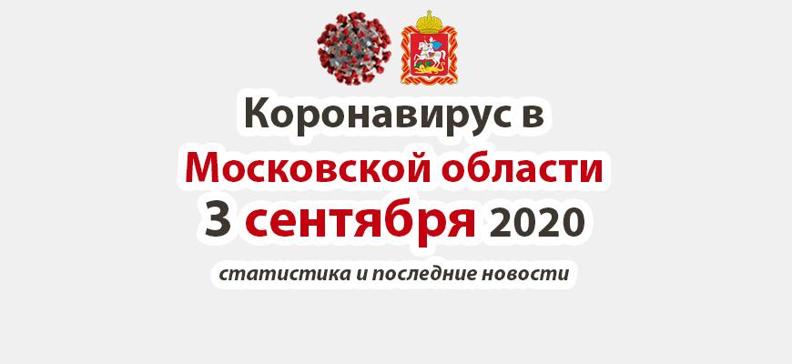 Коронавирус в Московской области на 3 сентября 2020 года