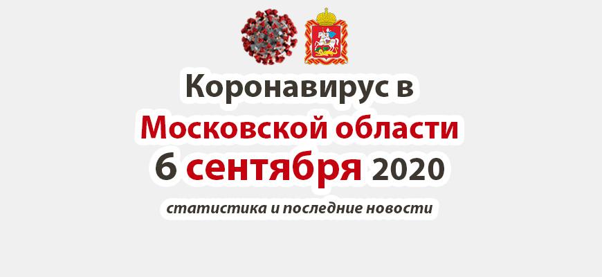Коронавирус в Московской области на 6 сентября 2020 года