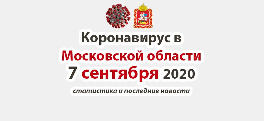 Коронавирус в Московской области на 7 сентября 2020 года