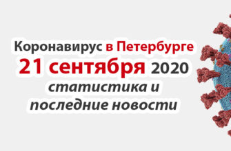 Коронавирус в Санкт-Петербурге на 21 сентября 2020 года