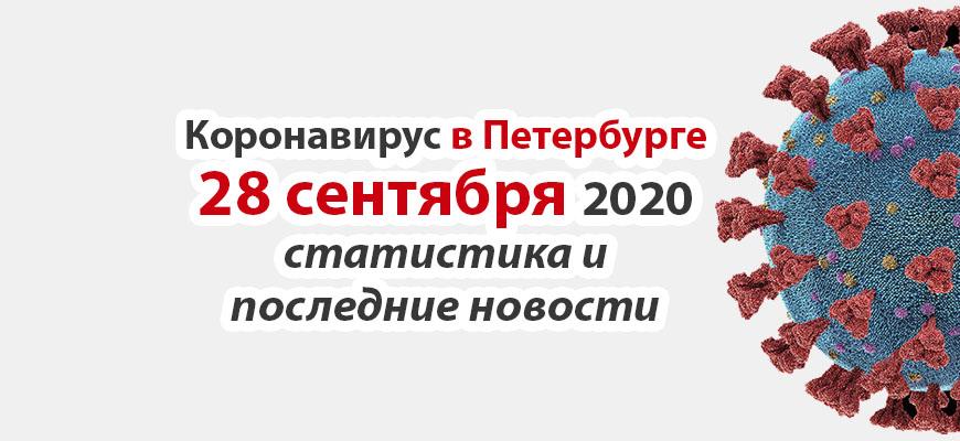 Коронавирус в Санкт-Петербурге на 28 сентября 2020 года