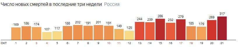 Коронавирус в России 21 октября: сколько заболевших на сегодня, последние новости распространения