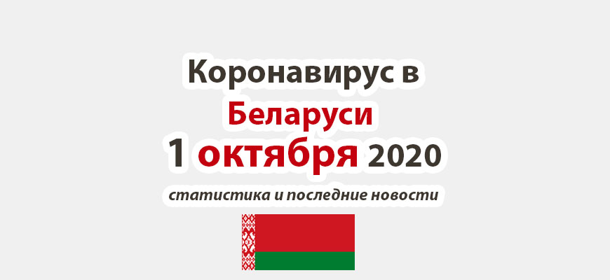 Коронавирус в Беларуси на 1 октября 2020 года