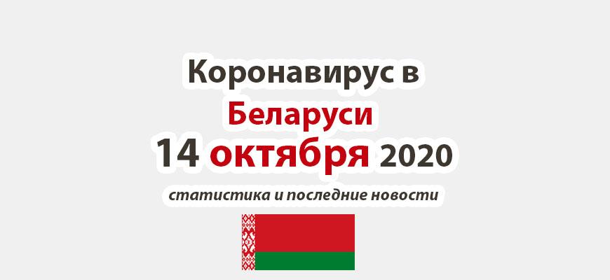 Коронавирус в Беларуси на 14 октября 2020 года