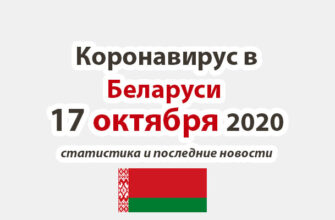 Коронавирус в Беларуси на 17 октября 2020 года