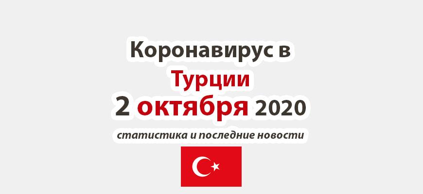 Коронавирус в Турции на 2 октября 2020 года