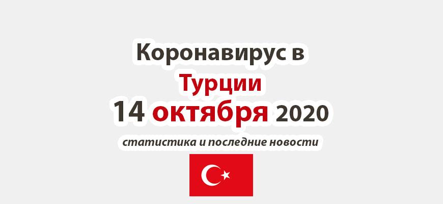 Коронавирус в Турции на 14 октября 2020 года