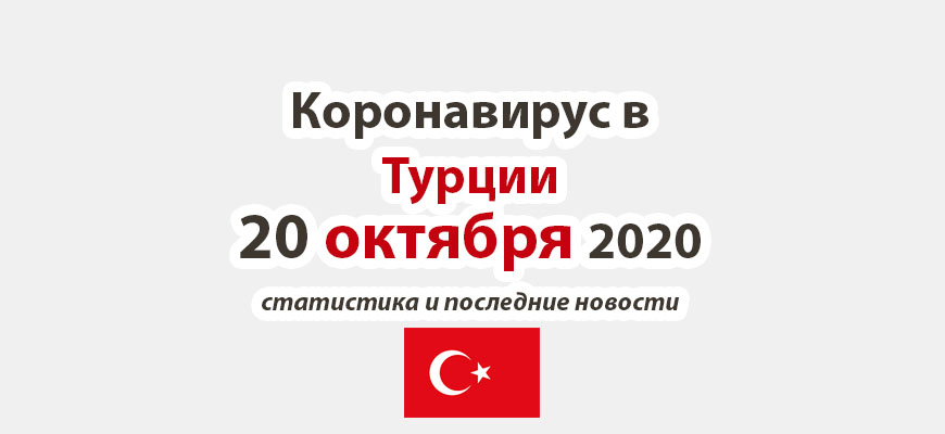 Коронавирус в Турции на 20 октября 2020 года
