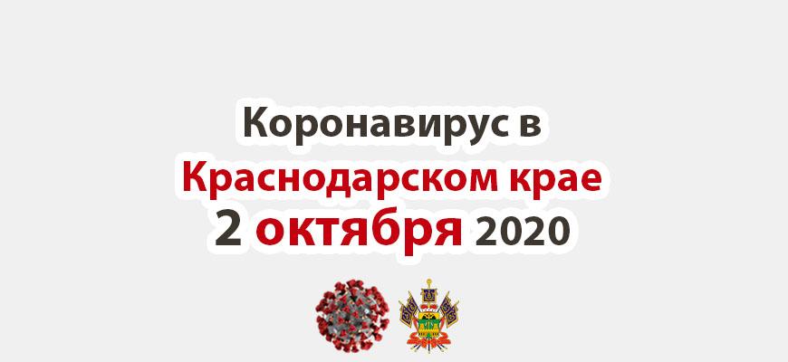Коронавирус в Краснодарском крае на 2 октября 2020 года