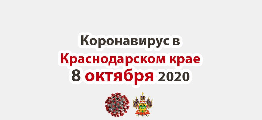 Коронавирус в Краснодарском крае на 8 октября 2020 года