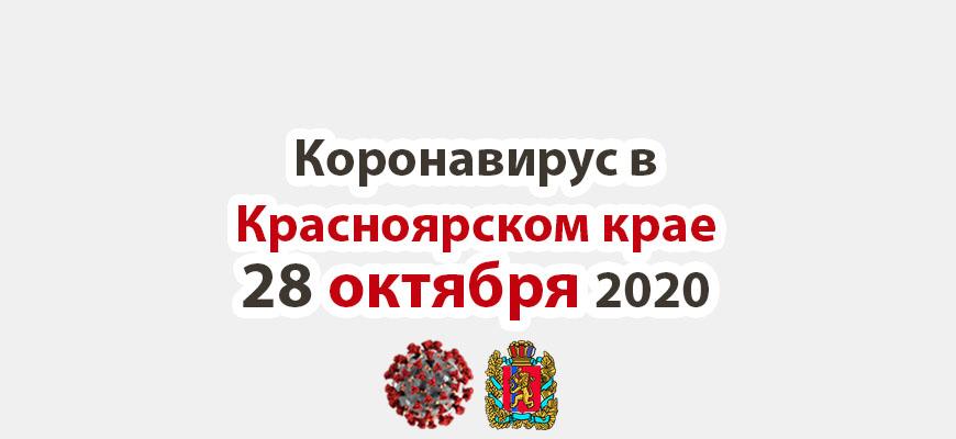 Коронавирус в Красноярском крае на 28 октября 2020 года