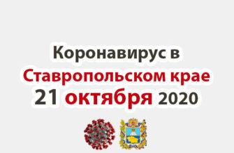 Коронавирус в Ставропольском крае на 21 октября 2020 года