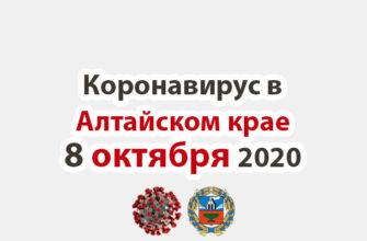 Коронавирус в Алтайском крае на 8 октября 2020 года