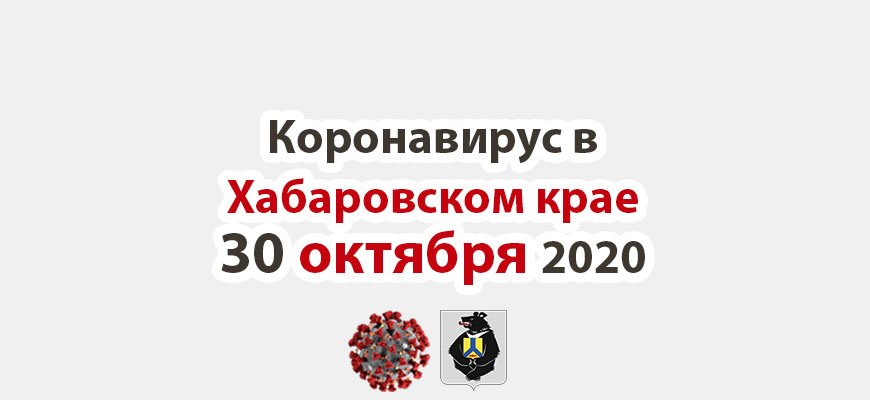 Коронавирус в Хабаровском крае 30 октября 2020