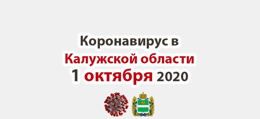 Коронавирус в Калужской области на 1 октября 2020 года