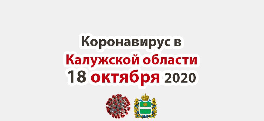 Коронавирус в Калужской области на 18 октября 2020 года