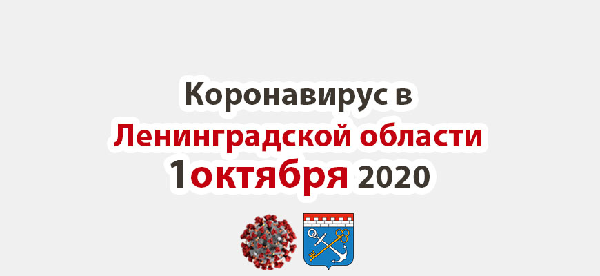Коронавирус в Ленинградской области 1 октября 2020