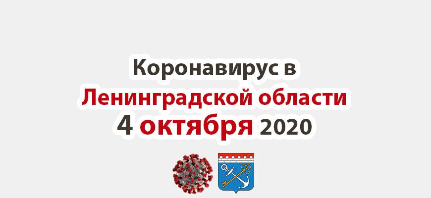 Коронавирус в Ленинградской области 4 октября 2020