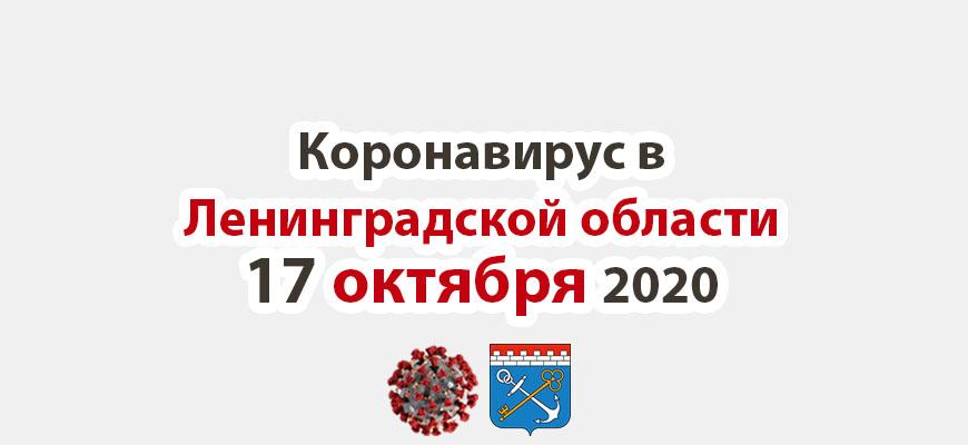 Коронавирус в Ленинградской области 17 октября 2020