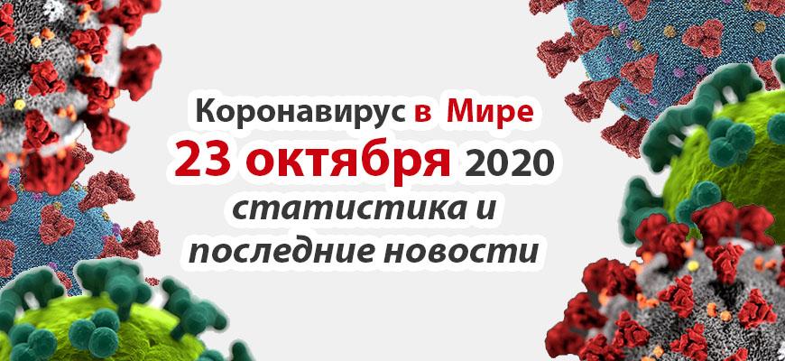 Коронавирус в США на 23 октября 2020 года