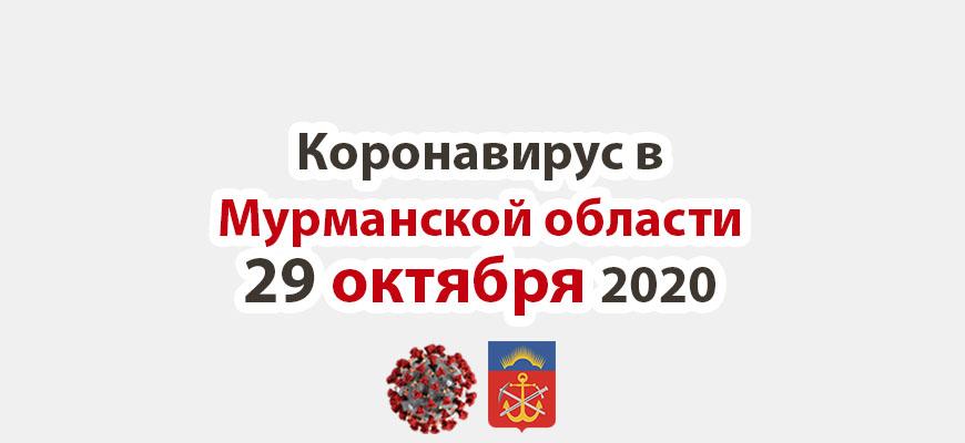 Коронавирус в Мурманской области 29 октября 2020