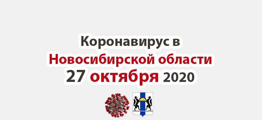 Коронавирус в Новосибирской области 27 октября 2020