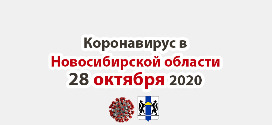 Коронавирус в Новосибирской области 28 октября 2020