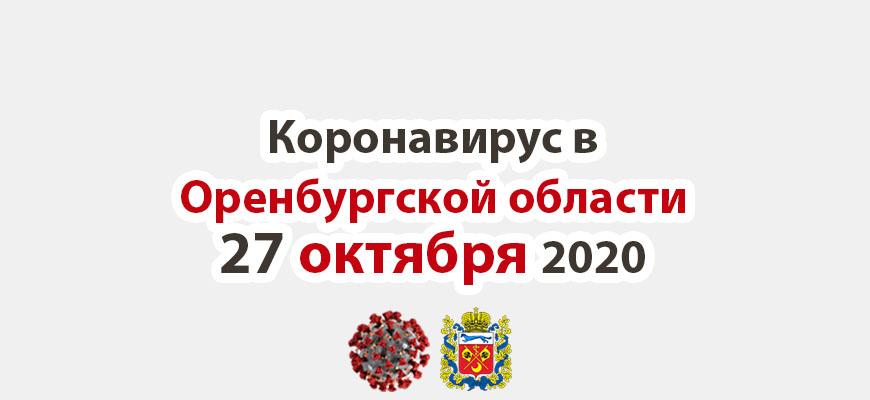 Коронавирус в Оренбургской области 27 октября 2020