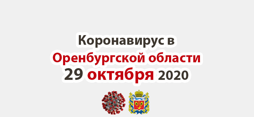 Коронавирус в Оренбургской области 29 октября 2020