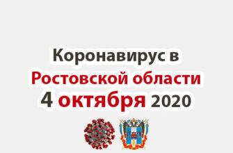 Коронавирус в Ростовской области на 4 октября 2020 года