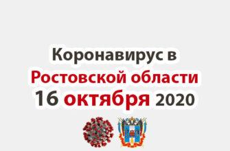Коронавирус в Ростовской области на 16 октября 2020 года