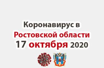 Коронавирус в Ростовской области на 17 октября 2020 года