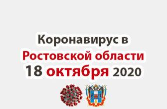 Коронавирус в Ростовской области на 18 октября 2020 года
